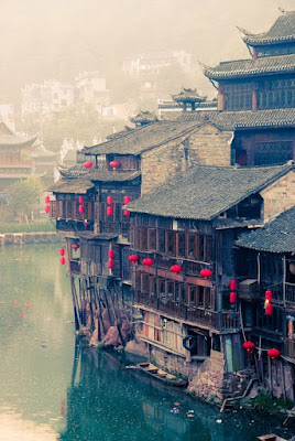 The ancient riverside town of Fenghuang