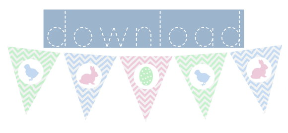 Download free printable easter bunting