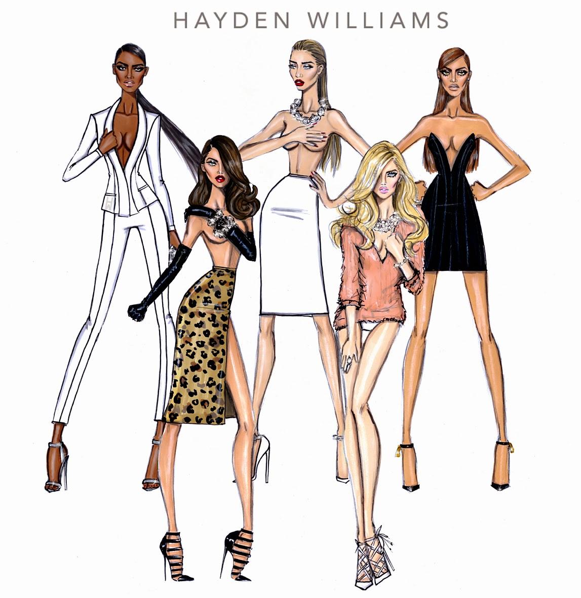 Zionology: Stunning Fashion Sketches By Hayden Williams