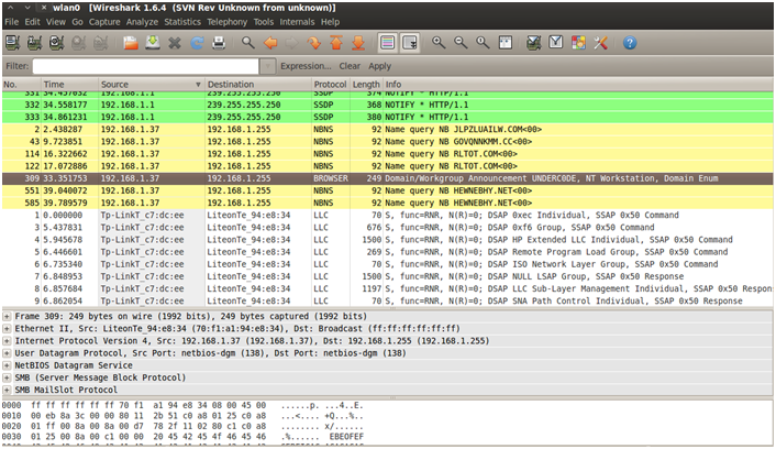 Sniffing con Wireshark 18