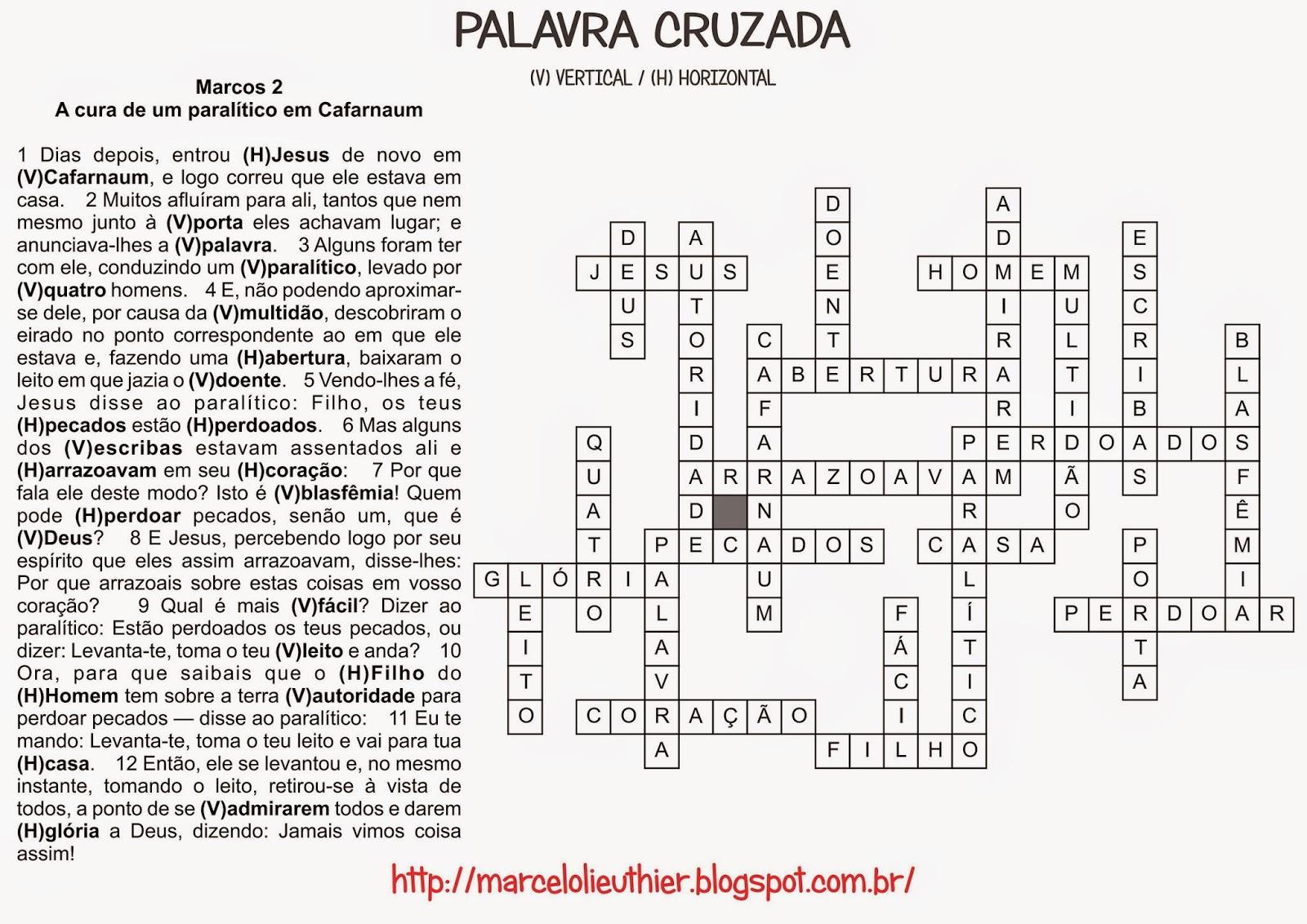 Marcelo Lieuthier: Palavras Cruzadas & Caça Palavras