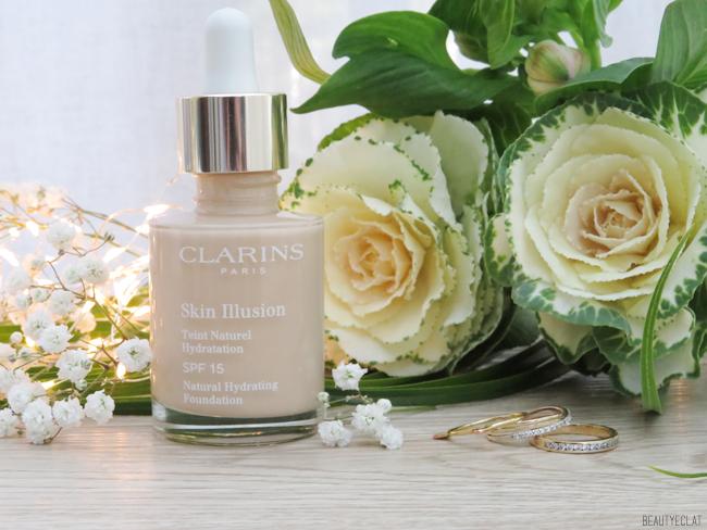 clarins skin illusion 105 nude revue avis test swatch