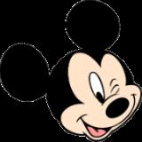 Mickey piscando