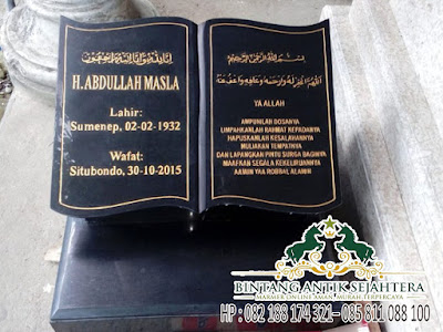 Nisan Model Buku Granit, Harga Batu Nisan Marmer Hitam, Batu Nisan Dari Granit