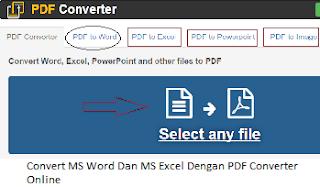 Convert MS Word Dan MS Excel Dengan PDF Converter Online - Tips Lengkap Terbaru