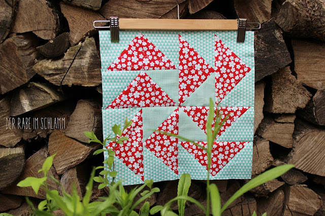 Quilt, Patchwork, Nähen, Sewing, Dresden Plate