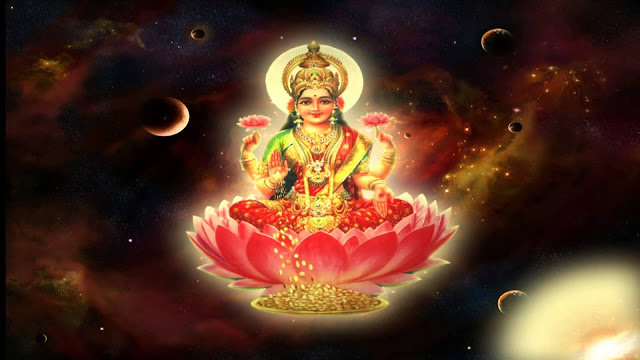Maa Lakshmi  Wallpaper In Black Background