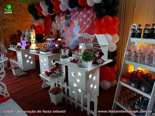 Decoração provençal para festa temática Minnie - aniversário infantil de meninas