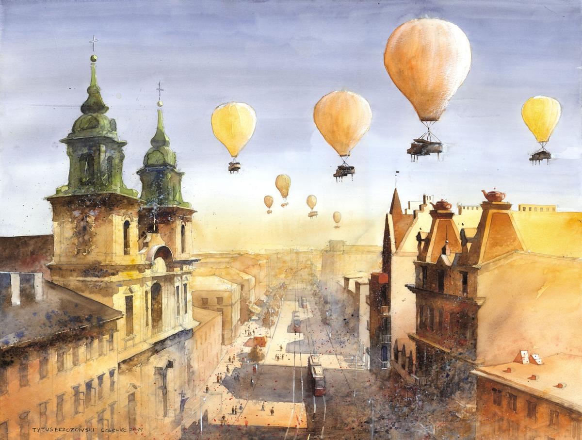 07-Krakowskie-Przedmiescie-Street-in-Warsaw-Tytus-Brzozowski-Architecture-Meets-Watercolors-Paintings-in-Warsaw-www-designstack-co