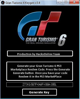 Gran Turismo 6 Keygen ~ Key Generator Game