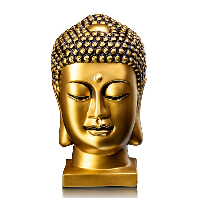 3902-Matte Gold Buddha Head-Rs. 1,990
