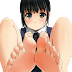 Tags: Render, Ass, Barefoot, Black hair, Feet, Matsunaga Kouyou, Original Character, Pantsu, Pov Feet, School uniform, Skirt, Spread legs, Toes