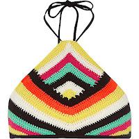 https://www.riverisland.com/women/swimwear--beachwear/bikinis/bikini-tops/black-crochet-stripe-high-neck-string-bikini-696206