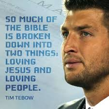 Do You Believe God? Show Me! Tim Tebow
