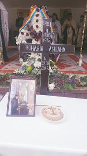 Inmormantarea Monahiei Adriana Marton, Manastirea Floresti, Cluj