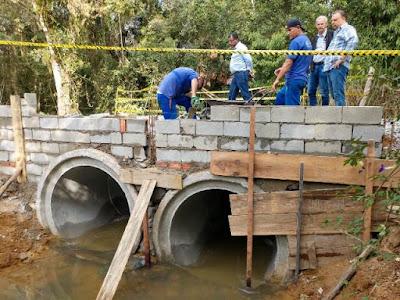 Prefeitura de Registro-SP substitui pontes de madeira por estruturas de concreto