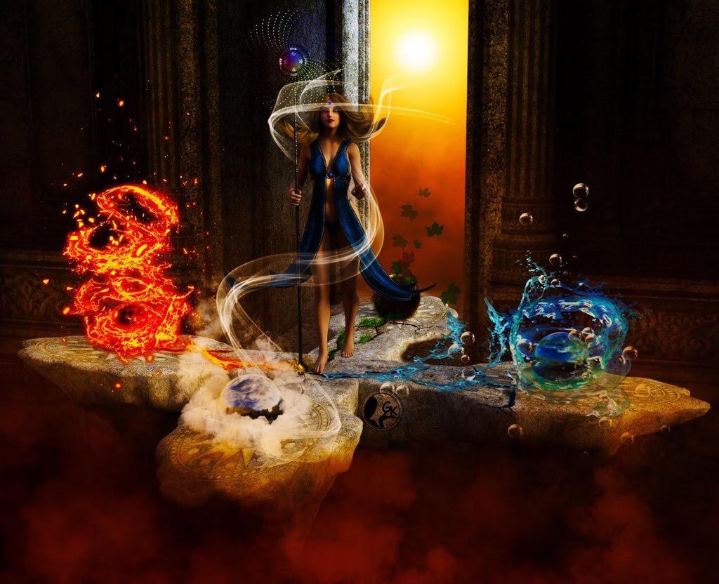 фото магии огня земли воды и воздуха конструкция волыни родство