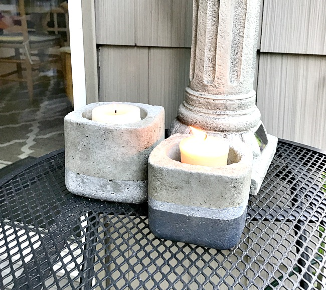 cement planter or candle holders