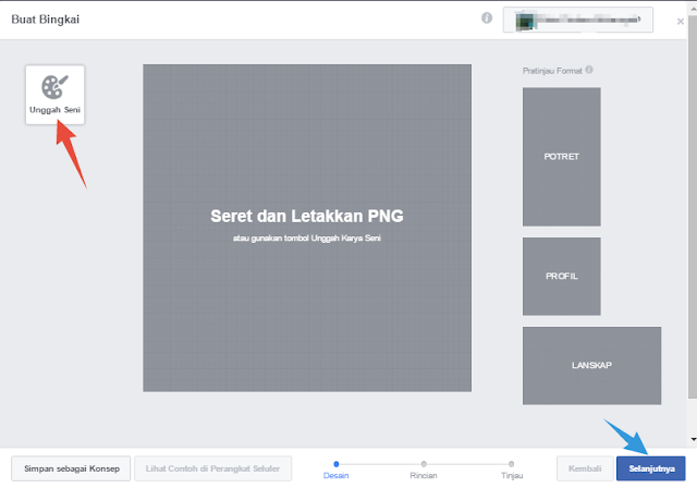 Upload Bingkai Profil Facebook
