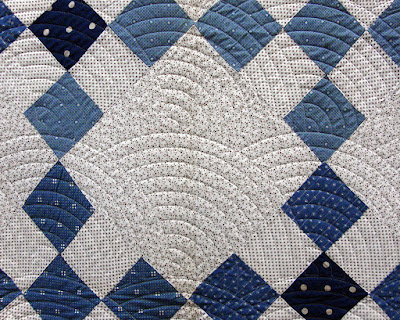 vintage quilt top, modern machine quilted, exhibited at Road to California 2016