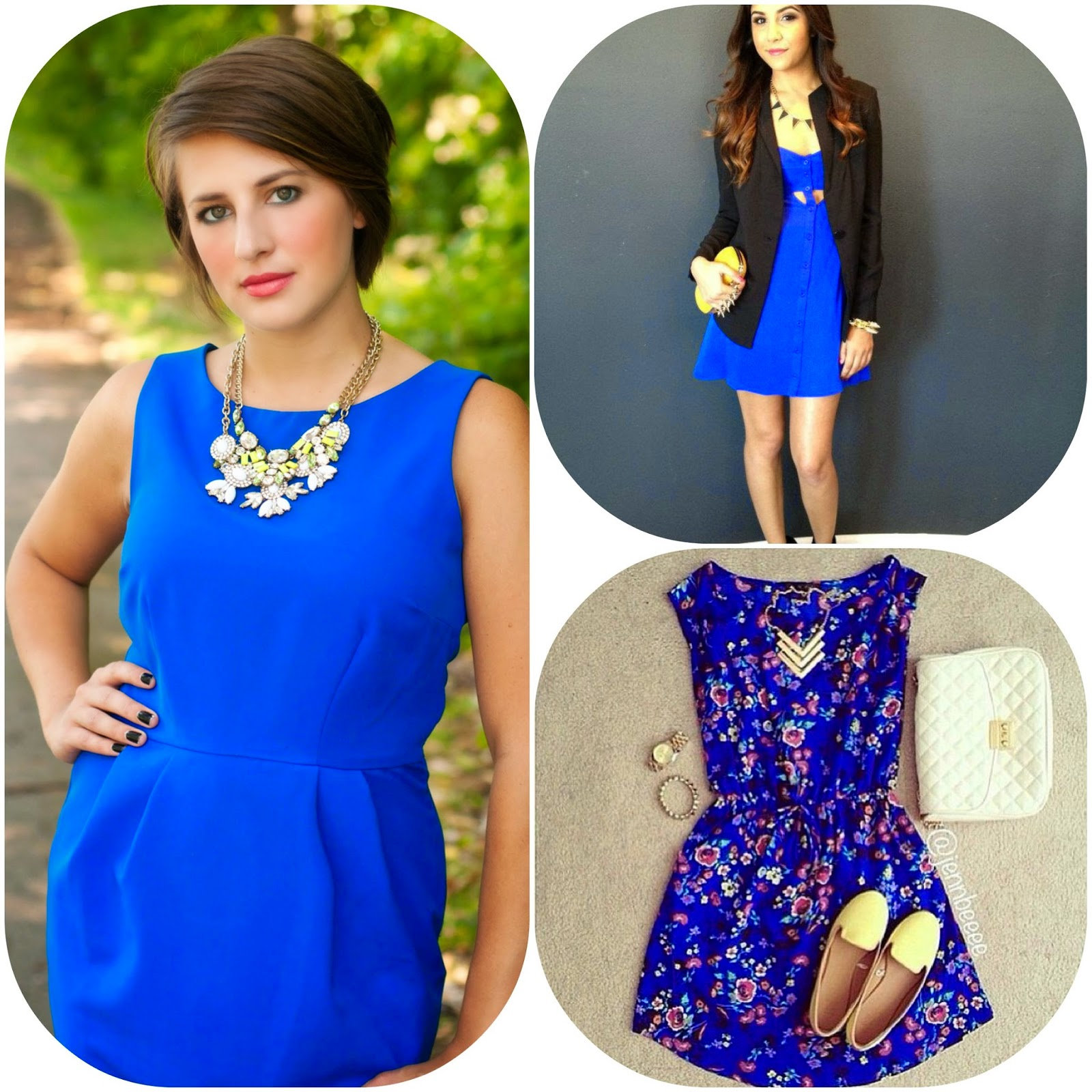 How to wear blue dress, how to style blue dresses, blue fashion style