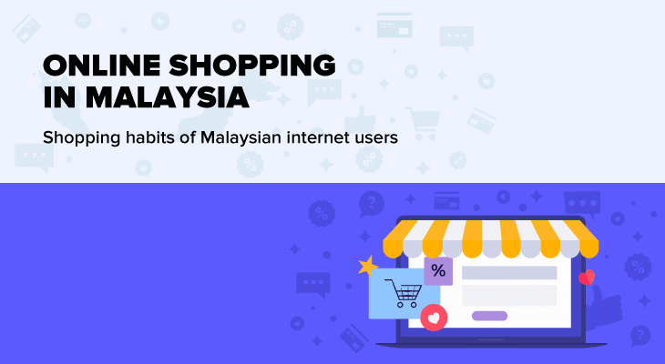 Online shopping infographic in Malaysia