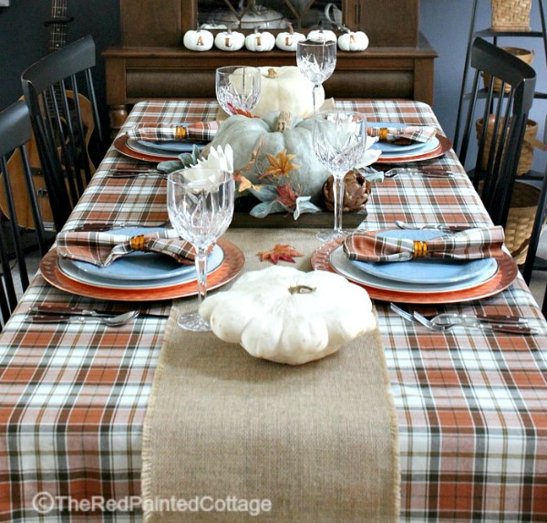 Rustic Thanksgiving Tablescape from The Red Painted Cottage