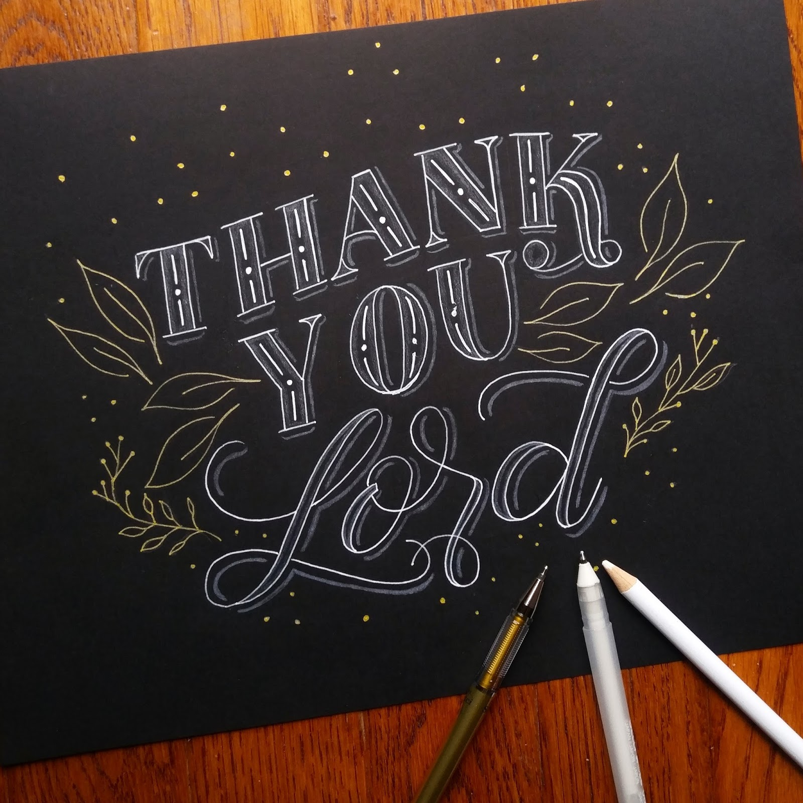 For Tha Masses Thank you Lord Lettering