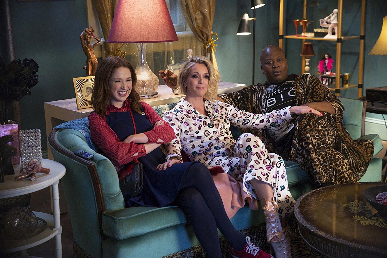Kimmy, Titus y Jacqueline en la cuarta temporada de 'Unbreakable Kimmy Schmidt'