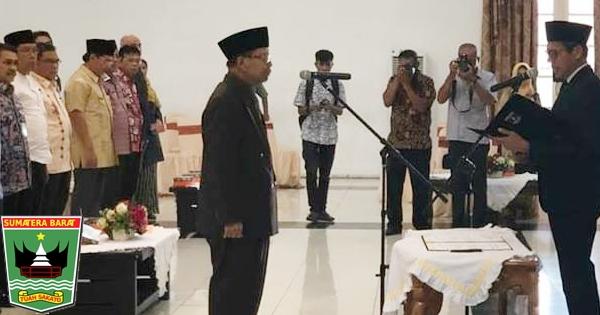 Gubernur Irwan Lantik Nasridal Patria Jadi Staf Ahli