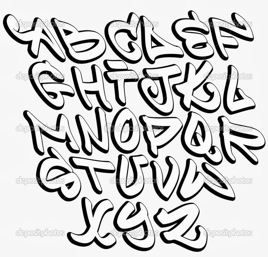 Graffitie Alphabet Graffiti Fonts