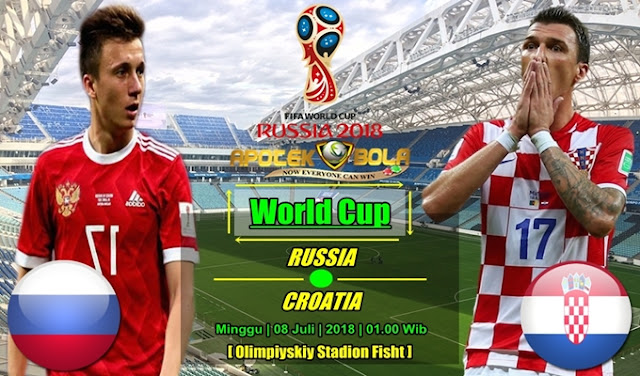 Prediksi Rusia Vs Kroasia 08 Juli 2018