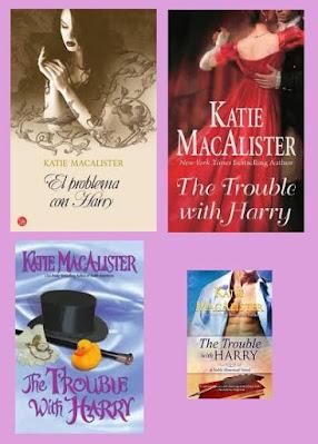 Portadas de la novela romántica histórica El problema con Harry, de Katie McAllister
