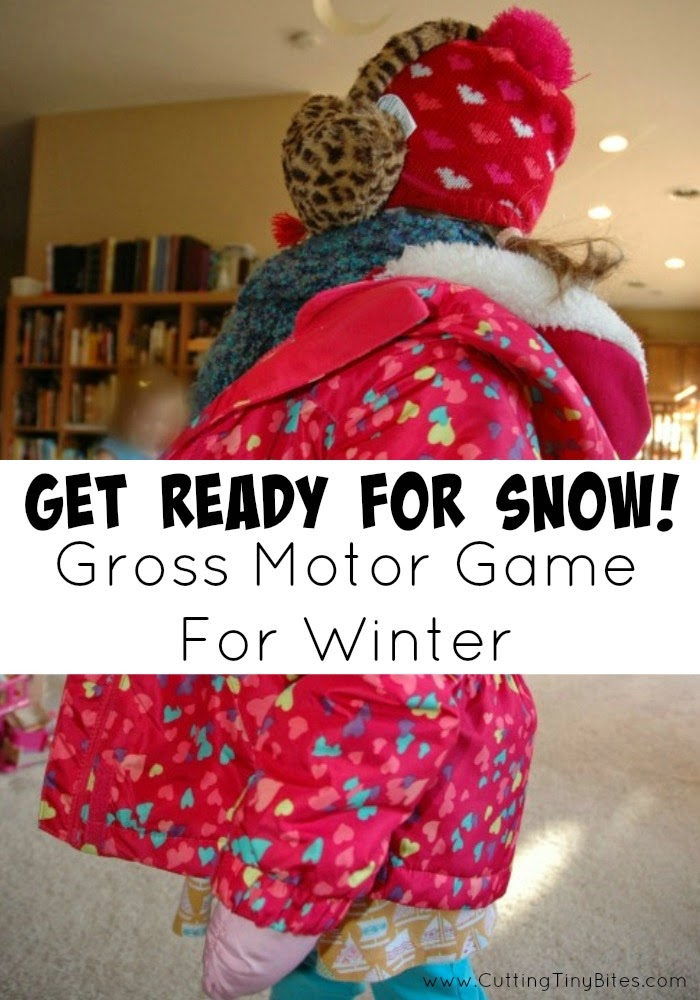 Get Ready for Snow Gross Motor Game for Winter Theme