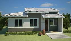 casas fachada simples casa fachadas modernas pequenas modelo ver modelos pintura frentes piso um telhado cor sencillas telhados aparente plantas