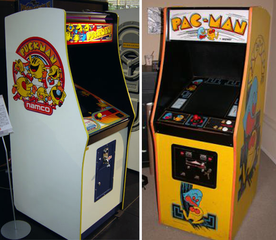 Pac-Man cabinets