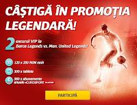 Castiga doua excursii VIP la Barca Legends vs Man United Legends + 780 de premii in valoare de peste 150.000 RON