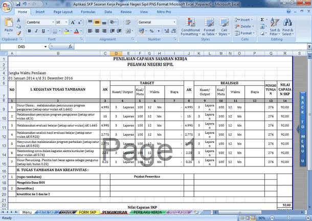 Download Aplikasi SKP Sasaran Kerja Pegawai Negeri Sipil PNS