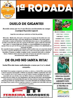 Miracatu realiza campeonato municipal de futebol veterano