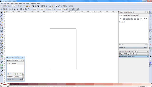 Settingan awal sebelum mulai membuat vector portrait di inkscape