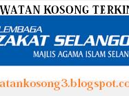 Jawatan Kosong Lembaga Zakat Selangor 12 jun 2017