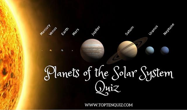 MCQ on Solar System