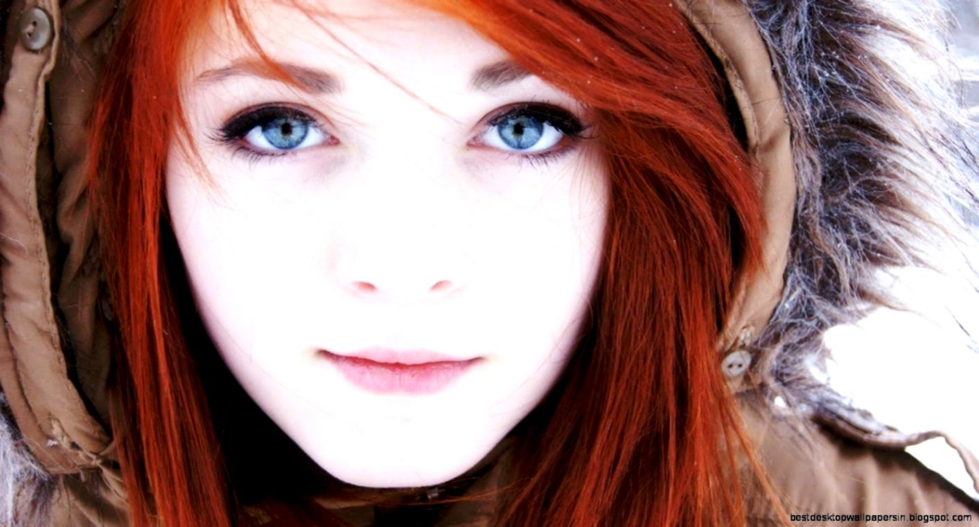 Redhead Girl Blue Eyes Hd Wallpaper Best Desktop Wallpapers