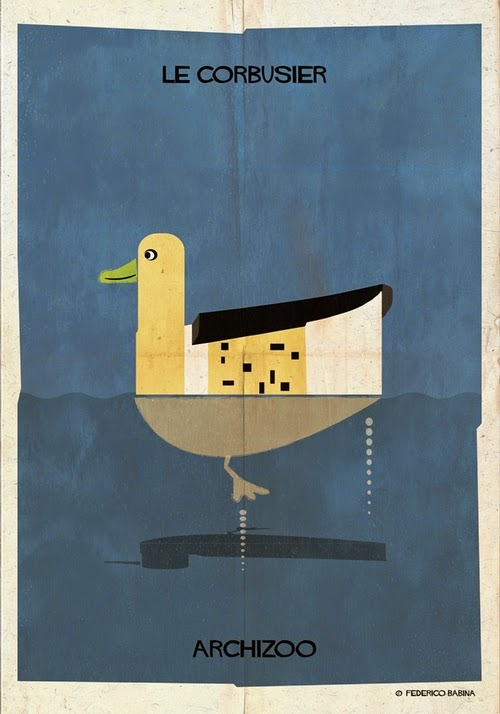 07-Les-Corbusier-Federico-Babina-Archizoo-Connection-Between-Architecture-and-Animals-www-designstack-co