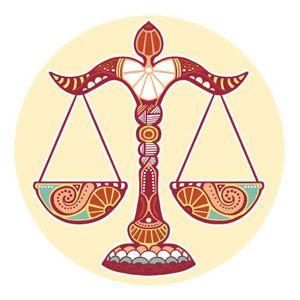 Signos del zodíaco. Balanza del signo de libra