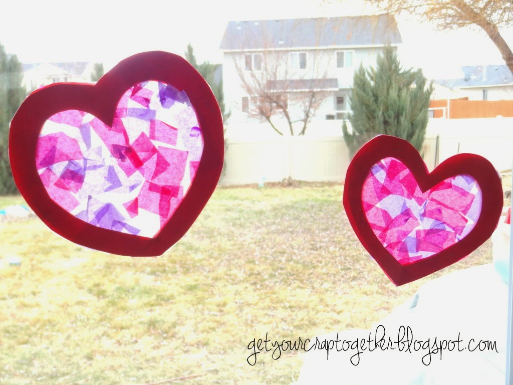 Valentine Stained Glass Craft by GYCT