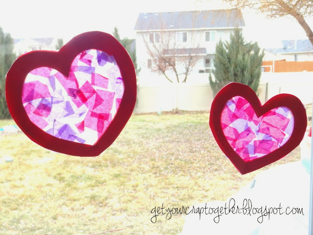 valentine stain glass craft