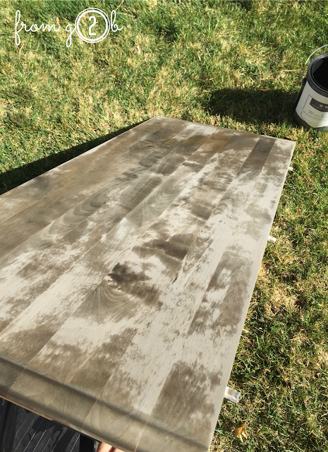 Before: Create weathered wood look in one step using #weatherwoodstains