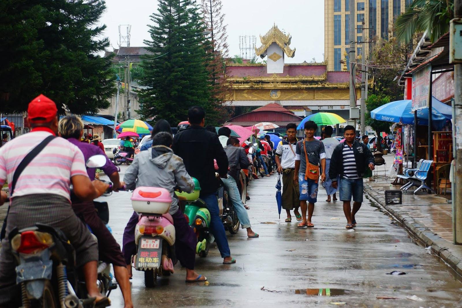 မူဆယ်မြို့ရှိ မြန်မာ - တရုတ် နယ်စပ် ...