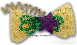 MARDI GRAS HAIR BOW